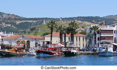quot;seaside summer travel destination, foca, turkeyquot; -...