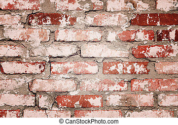 Red brick wall texture background - Grunge retro texture red...