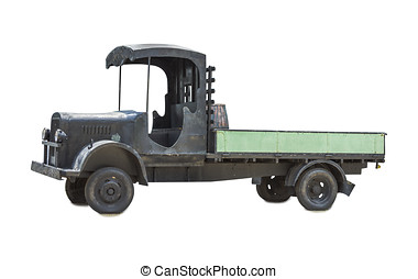 Cargo truck isolated on white isolated background with...