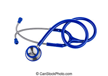 stethoscope - ein blue stethoscope lying on a white...