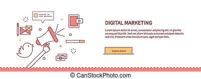 Template Web Page About Digital Marketing - Template web...