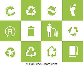 Vector recycle signs