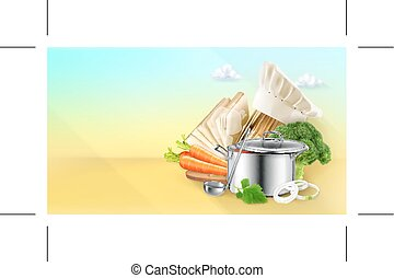 Cooking, vector background