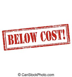 Below Cost-stamp