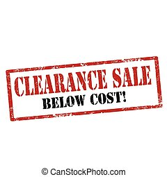 Clearance Sale-stamp - Grunge rubber stamp with text...