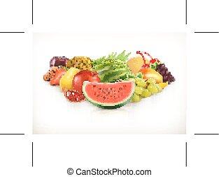 Harvest,  juicy fruit and berries