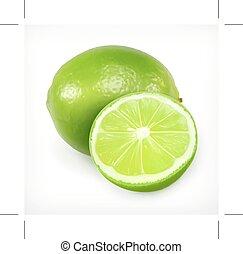 Lime, citrus fruit icon - Lime, citrus fruit vector icon