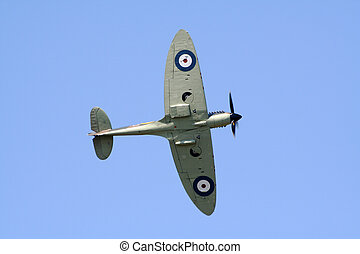 RAF Spitfire - GILZE-RIJEN, THE NETHERLANDS - JUNE 18: Royal...