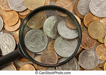 Background from coins of the different countries