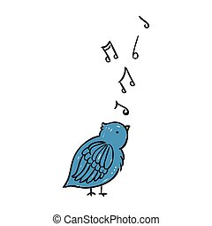 Vector Singing Bird