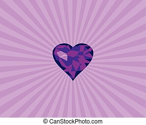 diamond heart with light background