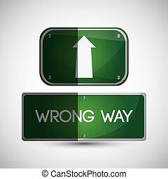 Road sign design , vector illustration