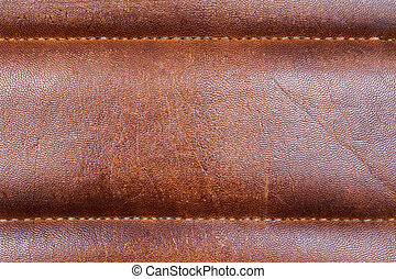 Reddish brown leather closeup - Closeup of reddish brown...