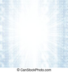 Abstract tech binary blue 3d background