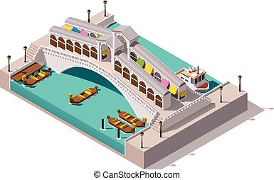 Vector isometric Rialto bridge - Isometric image...