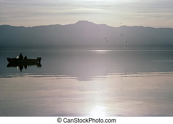 Tranquillity of Salton Sea in California
