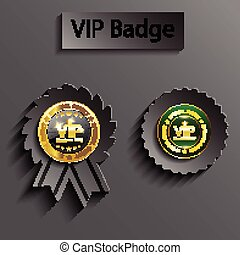 Member vip badge - gray member vip sign
