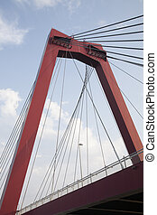 Willemsbrug Bridge in Rotterdam, Holland