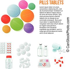 variety of drugs and pills, wide range - Large round pills,...