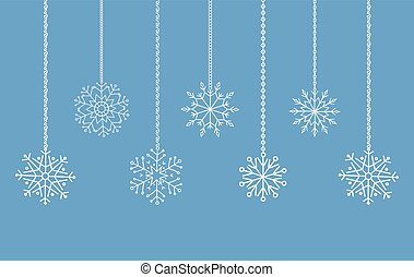 Snowflakes garland border, christmas and new year decoration...