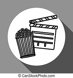 Movie clapboard design , vector illustration, vector illustration