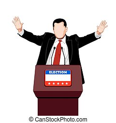 Politician greetings - Politician greets his election...