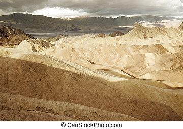 ridges of Zabriskie Point - Zabriskie Point, Death Valley...