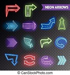 Bright Neon Arrows Set