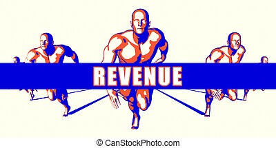 Revenue as a Competition Concept Illustration Art