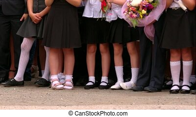 Pupils Of Elementary School At Opening Exercises - DOLLY...