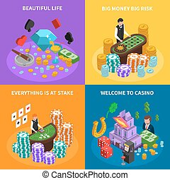 Casino 2x2 Isometric Design Concept - Casino 2x2 isometric...