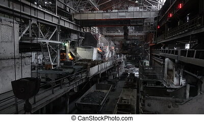 View of the working shop 11 - Stages of the steel plant for...