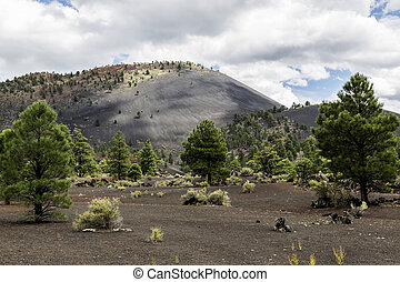 Sunset Crater Volcano Cinder Cone - Sunset Crater volcanic...