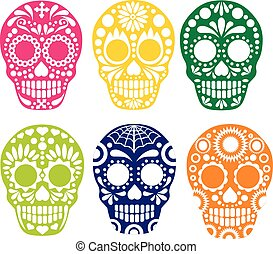 sugar skull - Gothic coat of arms with skull, grungevintage...