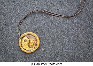 yin and yang pendant - essential oil diffuser ceramic...