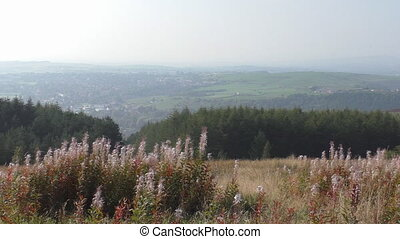 Rural scenery from hilltop Oldham - Hilly scenery near...