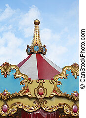 Merry Go Round Traditional Carousel Top Ride
