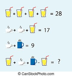 Math Puzzle, Decision Making, Solve Trick Question Flat...