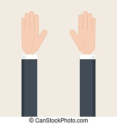 Hands up vector. - Hands up symbol. Vector illustration,eps...