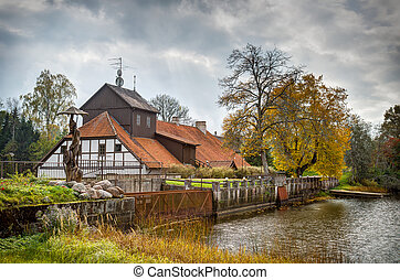 old water mill - Vellna dzirnavas - old water mill in Latvia