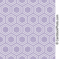 Purple and White Hexagon Tile Pattern Repeat Background that...