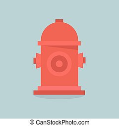 Fire Hydrant .Vector Flat Icon