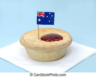 Australian Meat Pie - An Australian meat pie isolated...