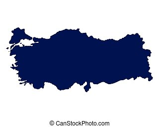 Turkey map on a white background vector illustration