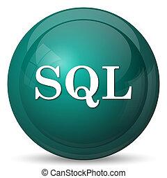SQL icon. Internet button on white background.