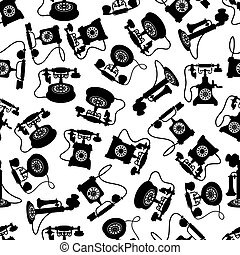 Vintage rotary dial telephones pattern