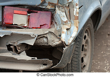 Broken car - Accident crash damaged car or wreck broken...