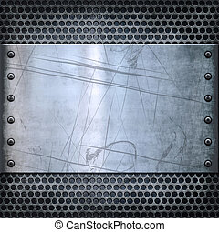old metal background texture - old dirty and grungy plate...