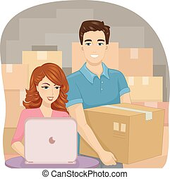 Couple Online Business