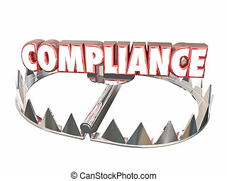 Compliance Rules Regulations Bear Trap Legal Risk 3d Word